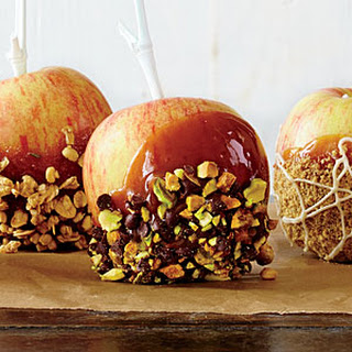 Pistachio-Orange Caramel Apples