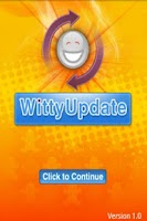 Screenshot of WittyUpdate