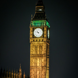 Traveling in London by Natalia Dobrescu - City,  Street & Park  Street Scenes ( building, uk, bus, scape, clock, canon70d, architecture, united kingdom, photography, city, nightscape, lights, tower, london, night photography, night, long exposure, historical, big ben )