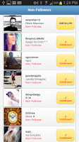 Screenshot of Followers+ for Twitter