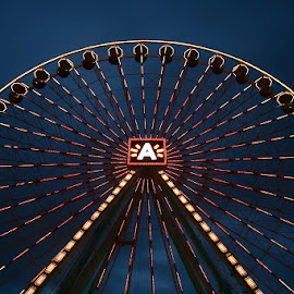 Amusement Park by Andy Just Andy - City,  Street & Park  Amusement Parks ( whell, speed, colors, rotation, sunset )