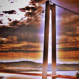 The bridge by Peter Sundkvist - Digital Art Places ( sweden, hdr, construction., summer, bridge, landscape, Urban, City, Lifestyle )