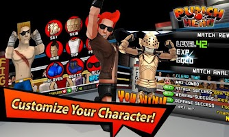 Screenshot of LINE Punch Hero