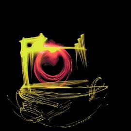 Say Cheese by Edith Melgar - Abstract Light Painting ( light painting, painting with light, camera drawing, camera, fine art, photo, photography )
