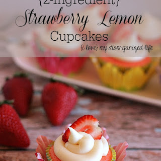 {2-Ingredient} Strawberry Lemon Cupcakes