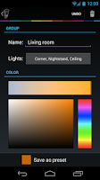 Screenshot of Hue Control