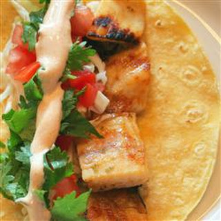Grilled Fish Tacos with Chipotle Lime Dressing