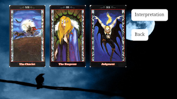 Screenshot of Tarot of the vampires. Lite.