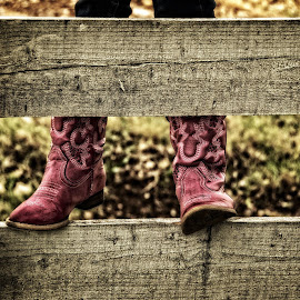 Cowgirl up by Tammy Arruda - Artistic Objects Clothing & Accessories ( cowgirl, pink, boots )