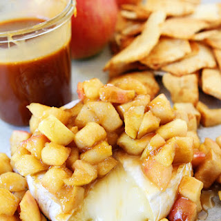 Baked Brie with Apples and Salted Caramel