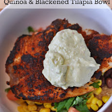 Quinoa & Blackened Tilapia Bowl