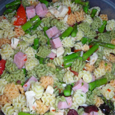 Meaty Asparagus Pasta Salad With Meat