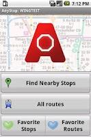 Screenshot of TriMet Portland: AnyStop