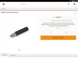 Screenshot of CigaretteElec