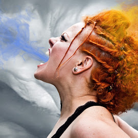 Thermodynamic by Don Thurheimer - People Portraits of Women ( cold, art, thermodynamic, photo, fire, person, people, tattoo )
