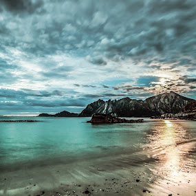 Water and clouds by Benny Høynes - Landscapes Waterscapes ( water, clouds, sand, sea, weather, norway, colours )