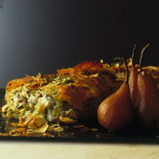 Roquefort Cheese and Apple Strudel with Spiced Pickled Pears