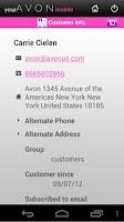 Screenshot of yourAvon Mobile
