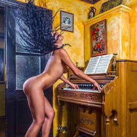 Harmonium player by Todor Lichev - Nudes & Boudoir Artistic Nude ( girl, nude, musician )