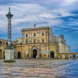 Basilica de Finibus Terrae by Stefano Landenna - City,  Street & Park  Historic Districts ( hdr, church, puglia, leuca, square, italy, basilica )
