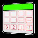 Cuenta atrás Calendario icon