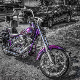 Askim, Norway by IP Maesstro - Transportation Motorcycles ( selective colors, hdr, norge, maesstro, askim, norway, selective color, pwc )