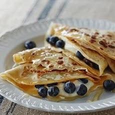 Oatmeal Honey And Blueberry Crepes