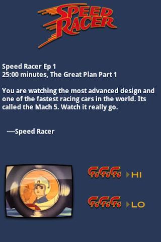 Speed Racer Episode 1