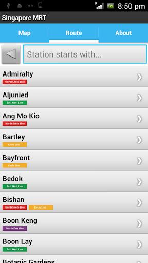 Singapore MRT and LRT Pro - screenshot