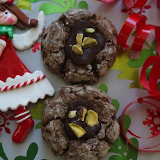 Chocolate Crinkle Thumbprint Cookies