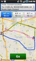 Screenshot of TeleNav GPS Navigator for TMO