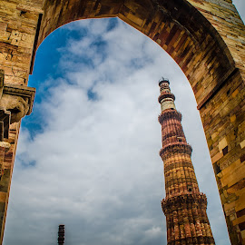 Da Qutb Minar, New Delhi, India by Ganesh Natarajan - Buildings & Architecture Architectural Detail ( love, da qutb minar, rocking, new delhi, peace, beautiful, india, qutb )
