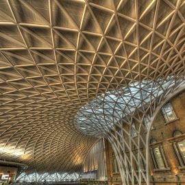 Kings Crossing, London by Geoffrey Chen - Buildings & Architecture Other Interior ( england, london, ceiling, station, train,  )
