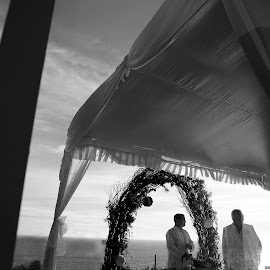 Waiting for My Bride by Bima Adhitya - Wedding Ceremony ( wedding photos destination, bali, wedding photography, wedding photographers, wedding, wedding day, wedding photographer, wedding ceremony )