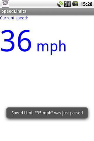 我的速度限制