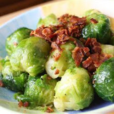 Quick Brussels Sprouts with Pancetta