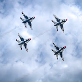 Thunder Four by Ron Meyers - Transportation Airplanes