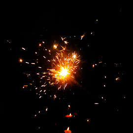 Sparkle by Sristi Yadav - Novices Only Abstract ( lights, lamps, sparkes, yellow, sparkle, darkness, light )