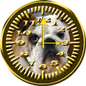 Dog 6 EN Bulldog Analog Clock icon