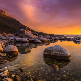 Serendipity by Mike Lindberg - Landscapes Mountains & Hills ( alpine lake, reflection, sierra nevada, mountain lake, eastern sierra, california, nevada, tahoe, sierra, lake tahoe )