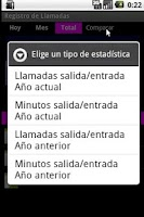 Screenshot of Registro Llamadas