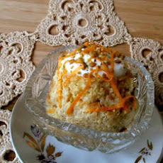 Baked Quinoa Pudding with Persimmon and Pistachios