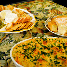 Hot Cheesy Artichoke Dip Appetizer