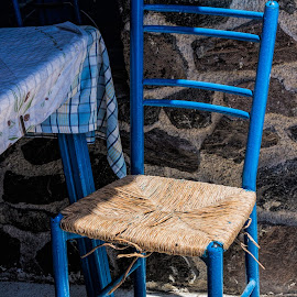 greek chair by Vibeke Friis - Artistic Objects Furniture ( chair, blue, Chair, Chairs, Sitting )