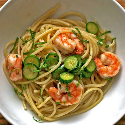 Linguine with Shrimp and Baby Zucchini