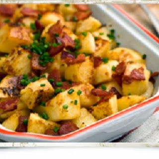 Buttery Irish Potato and Apple Bake with Bacon