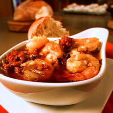 Shrimp and Chorizo in Garlic Sauce