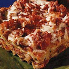 Sausage, Cheese and Basil Lasagna