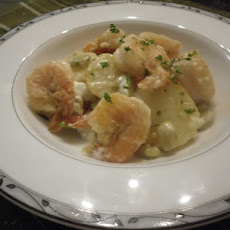 Shrimp Potato with Garlic Lemon Mayonnaise Sauce
