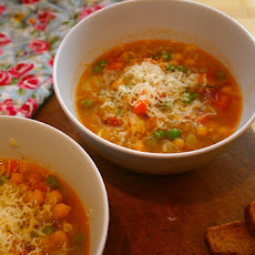 Chunky Vegetable Soup With Chickpeas